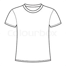 free t shirt template blank white t shirt template stock vector colourbox
