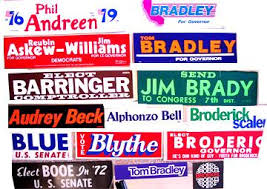 political campaign bumper stickers original state and local political campaign bumper stickers