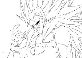 Dragon Ball Z Coloring Pages Goku Super Saiyan 3 Printable Color
