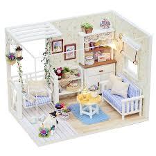cheap dollhouse furniture. Handmade Small Dollhouse Assemble Realistic DIY Mini Dolls House 3D Dollhouses  Furniture Kits For Kids Birthday Cheap Dollhouse Furniture R