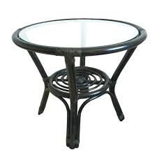 rattan glass top coffee table coffee table rattan round small black round wicker coffee table glass