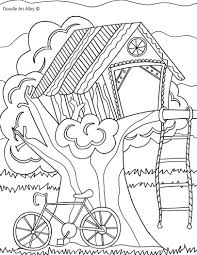 Treehouse Jpg Summer Coloring Pagescoloring