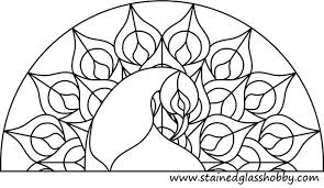Stained Glass Pattern Mesmerizing Free Glass Painting Pattern Peacock Stained Glass Peacock Patterns