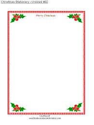 Printable Christmas Stationery Borders Download Them Or Print