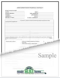 Project Contract Templates Free Printable Home Improvement Contract Form (GENERIC)