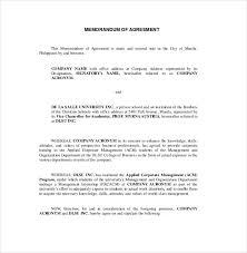 Example Of An Agreement 16 Memorandum Of Agreement Templates Pdf Doc Free