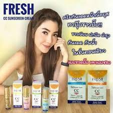 ครีมกันแดดวุ้นเส้น Cc Cream Fresh Sunscreen