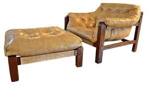 club chair and ottoman. Cream Leather Club Chair Ottoman Brown Wood Feet And E