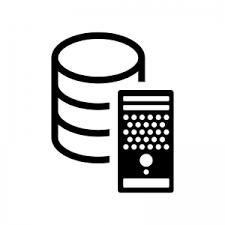 データベースとサーバーのシルエット 無料のaipng白黒シルエットイラスト