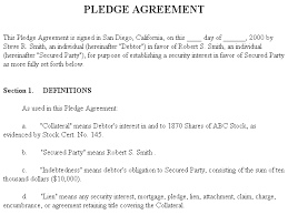 Loan Agreements Between Individuals Unique Example Document For Pledge Agreement