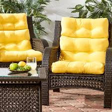 Stylish Outdoor High Back Chair Cushions Luxurious High Back