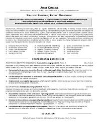 Free Strategic Sourcing Manager Resume Example with Sourcing Manager Resume