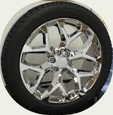 Chevy style Chrome Snowflake 22