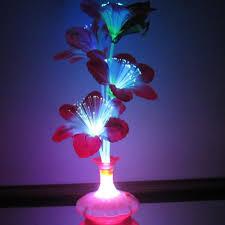 Fiber Optic Blossom Led String Lights Us 1 34 11 Off Led Fiber Flower Kapok Vase Optical Fiber Lamp Blossom Decoration Colorful Tage Fiber Flower Kapok Vase Optical Fiber Led Lamp In