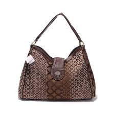 Coach Madison In Logo Large Coffee Shoulder Bags DYU