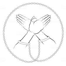 手が鳥を作る形状タトゥー グラフィック黒と白線のグラフィックベクター