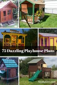 Small Blue Printer Garden 75 Dazzling Diy Playhouse Plans Free Mymydiy Inspiring