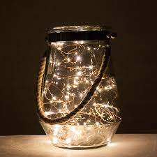 Party Light Hurricane Rope Handle Hurricane Vase With Led Lights Copper Wire