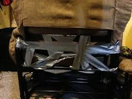 Duct tape furniture Cardboard Chairs Fixing Furniture Duct Tape Funny 7675607552 Fail Blog Cheezburger There Fixed It Fixing Furniture White Trash Repairs Cheezburger
