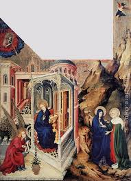 the annunciation and the visitation painting melchior broederlam the annunciation and the visitation art painting