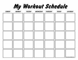 blank work schedule this site has blank and pre made work out schedules for several