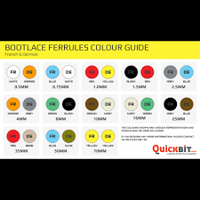 Ferrule Color Chart Details About German Coloured Bootlace Ferrules 0 5mm 70mm Single Double Cord End Terminals