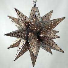 mexican star lights star light bronze metal mexican tin star lights with marbles