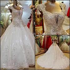 rhinestone wedding dress. Discount Newest Gorgeous Wedding Gowns Rhinestone Shining Empire