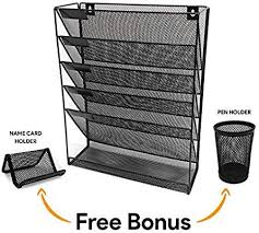 com wall file organizer 5 tier