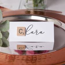 Wedding Name Wedding Scrabble Name Place Cards