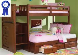 kids bunk bed with stairs. Simple Bed Stair Step Bunk Bed With 3Drawer Pedestal On Kids With Stairs D