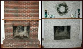 refinish brick fireplace luxury top painted