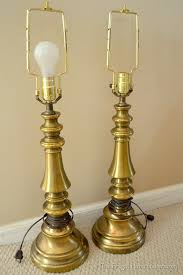 thrift brass lamps before