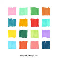 Variety Of Watercolor Brush Strokes Vector Free Download