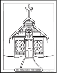 Print or download winter coloring pages for kids. 9 Church Coloring Pages Roman Catholic Churches Cathedrals Missions
