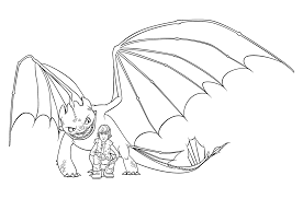 Hiccup And Night Fury Coloring Pages For Kids Printable Free
