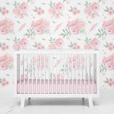Blush Rose Floral Removable Wallpaper ...