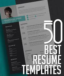 Best Resume Templates Interesting 40 Best Resume Templates Design Graphic Design Junction