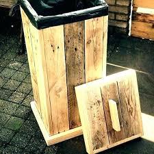 wood outdoor trash can holder plans ideas wooden garbage for kitchen bin storage cabinet ou