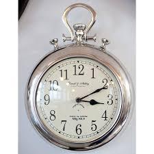 giant stopwatch wall clock silver pocket watch wall clock pocket watch wall clocks and