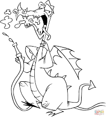 1287x1425 dragon with water hose coloring page free printable coloring pages
