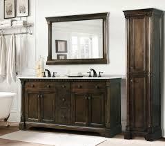antique 60 inch single sink bathroom vanity antique coffee finish