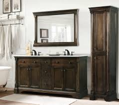 Legion 60 inch Antique Single Sink Bathroom Vanity Antique Coffee ...