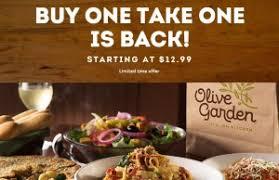 deals at olive garden. Popular Buy One Take Deal Is Back At Olive Garden Deals