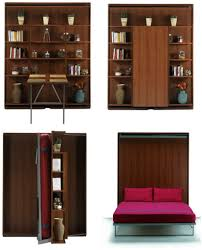 Bookcase Table Bookcase Bed And Dining Table In One Space Saving Unit Living