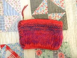 Felted Wool Designs B 33 Small Felted Wool Coin Zip Purse