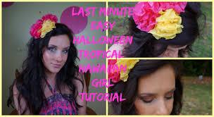 easy tropical hawaiian girl last minute costume