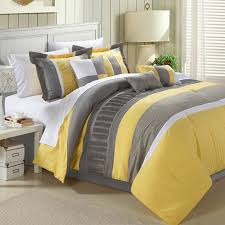 20 piece oversize gray yellow embroidery comforter sheet curtain pertaining to comforters sets design 18