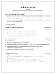 Resume Template Word Free Download Executive Resume My Resume