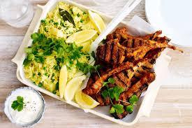 Tandoori Lamb Cutlets With Pea And Potato Pilaf